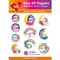 Unicorns & Rainbows 3D Paper Tole