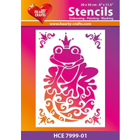 Hearty Crafts Frog Prince Stencil 20cm x 30cm