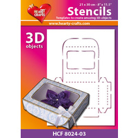 Hearty Crafts Jewelry Box 3D Stencil 20cm x 30cm