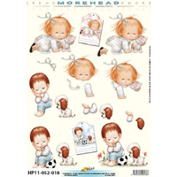 Children & Kittens & Puppies Paper Tole