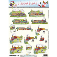 Locomotive Train Paper Tole Sheet