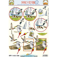 Boats & Birds Paper Tole Sheet