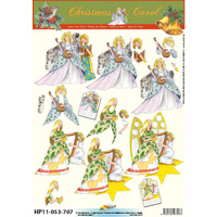 Angels Singing  & Harp Paper Tole Sheet
