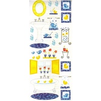 Bathtime Penny Black Sticker