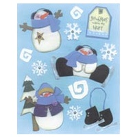 Snow Buddies Penny Black Sticker