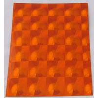 Orange Multi Lens Self Adhesive Stickers