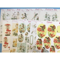 Fairies Paper Tole & Pyramid Pack - 10 Sheets