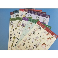 Cute Children Paper Tole Pack - 10 Sheets