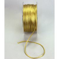 2mm Satin Rat Tail Gold Cord - 5Mtr