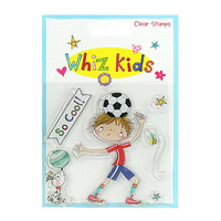 Whiz Kids Clear Stamp Footballer / Soccer Player
