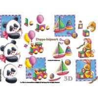 Children's Toys Paper Tole Sheet