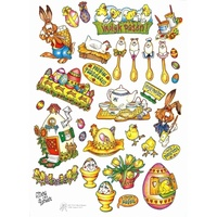 Easter Baskets & Chicks Decoupage