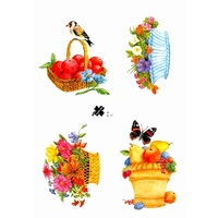 Flowers & Fruit Decoupage & Card Toppers