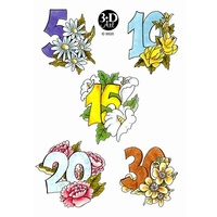 Numbers & Flowers Decoupage & Card Toppers
