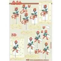 Red Roses Paper Tole Sheet