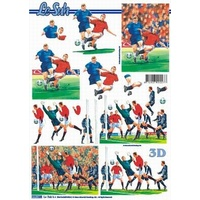 Soccer Action Paper Tole Sheet