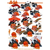 Holland Soccer Kit Paper Tole Sheet