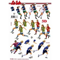 Soccer Male & Female Paper Tole Sheet