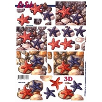 Starfish Paper Tole Sheet