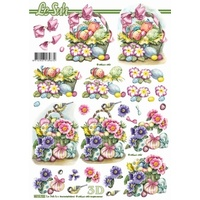 Easter Flowers & Eggs Paper Tole