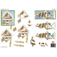 Winter Birds & Birdhouses Paper Tole Sheet