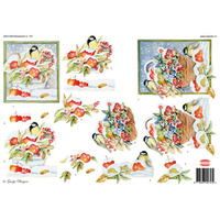 Winter Birds & Berries Paper Tole Sheet
