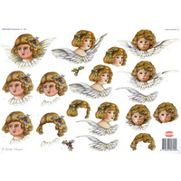 Angel Faces & Wings Christmas Paper Tole