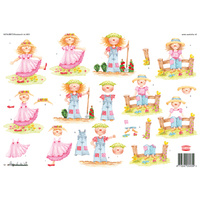 Cute Children Paper Tole Sheet
