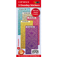 Corners Squares & Borders Soft Colours Holographic Assorted Pack