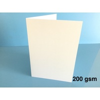 White Card Single Fold A5 200gsm (10 Pack)