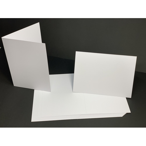 White 200GSM Card Single Fold Size C (10 Pack) [Supply Envelopes: No]
