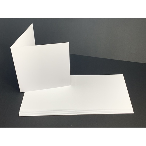 White Square 140mm  200gsm Card (10 pack)
