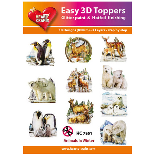 Hearty Crafts Animals in Winter Die Cut Paper Tole