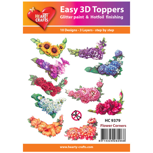 Hearty Crafts Flower Corners Die Cut Paper Tole