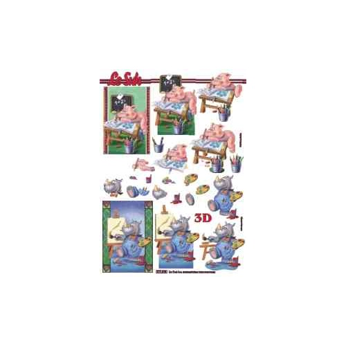 Cartoon Animals Paper Tole Sheet