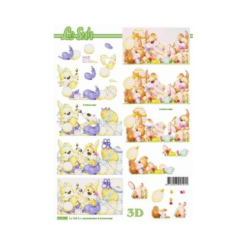 Easter Rabbits & Eggs Paper Tole