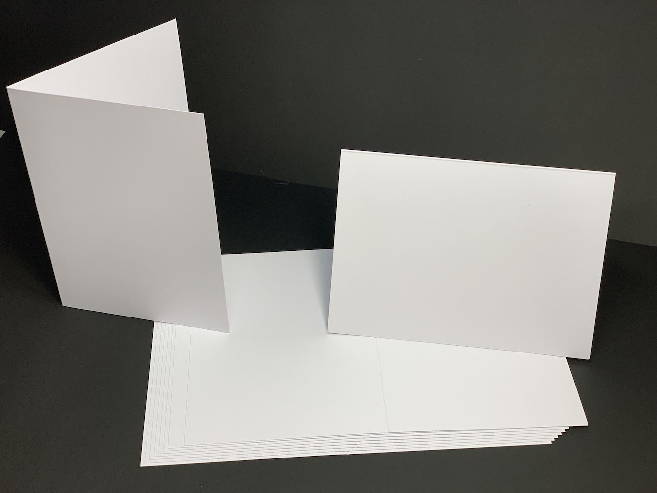 10 Pack A5 Bright White Card Blanks 250gsm with Envelopes