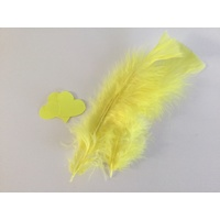 Feathers and Hearts Card Making Kit -PALE YELLOW