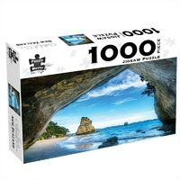 Jigsaw Puzzle 1000PC Cathedral Cove New Zealand