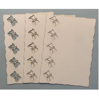 Butterfly Border Laser Cut Ivory Card Layers x 4