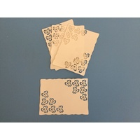 Pansy Corners Ivory Laser Cut Card Layers x 4