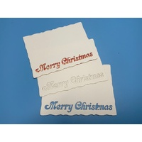 Merry Christmas Laser Cut Card Layers x 3
