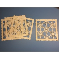 Snowflake Square Laser Cut Ivory 280gsm Card Layers x 3