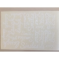 White Vinyl Love your Laugh Smiles Sticker Sheet