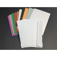 Assorted Single Fold Size C with Envelopes x 5