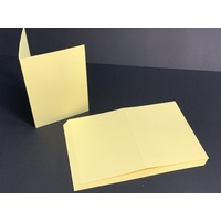 Yellow Single Fold Card Size B (A6)
