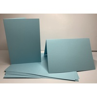 Pale Blue Single Fold Card Size B (A6)