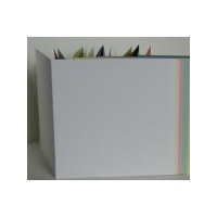 White Linen Textured Square Single Fold x 10