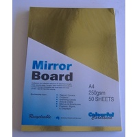 Mirror Card Gold A4 250gsm