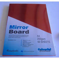 Mirror Card Red A4 250gsm